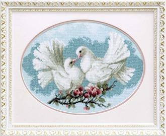 """Артикул: А-165 Наименование: Набор для вышивки крестом Чарівна Мить  """"Любовь и голуби """" Производитель: Чарівна Мить..."""
